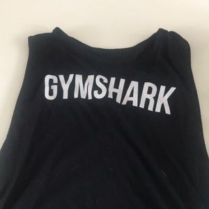 Gymshark black tank with side tie